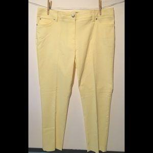 Zac & Rachel Yellow Dress Pants Jeans Size 16